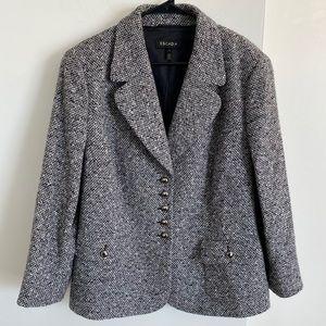 Escada Piacenza Italian Wool Angora Blazer XL
